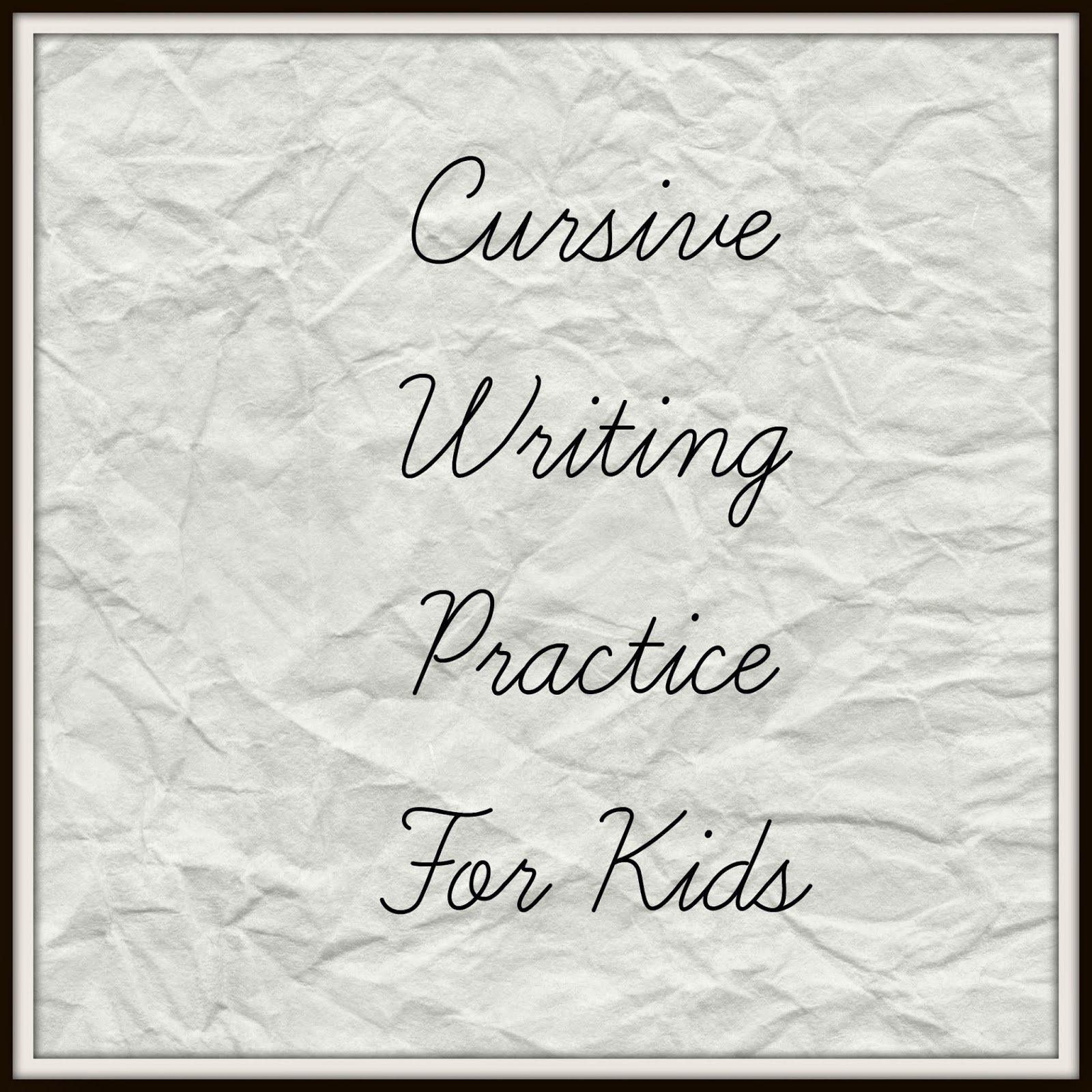 Cursive Words Worksheets