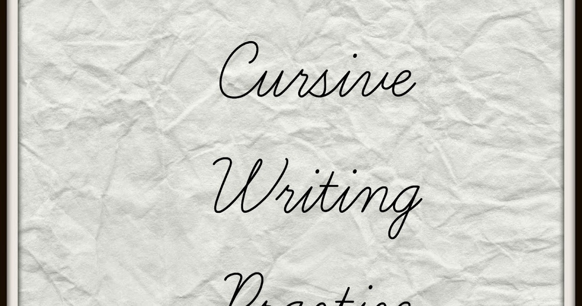 cursive writing video The transition from printing to cursive writing is exciting for children they feel more grown-up learning to write like adults while it looks.