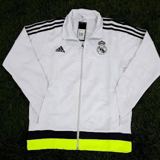 gambar desain jaket terbaru musim depan Jaket Real Madrid home terbaru warna putih terbaru musim 2015/2016 di enkosa sport
