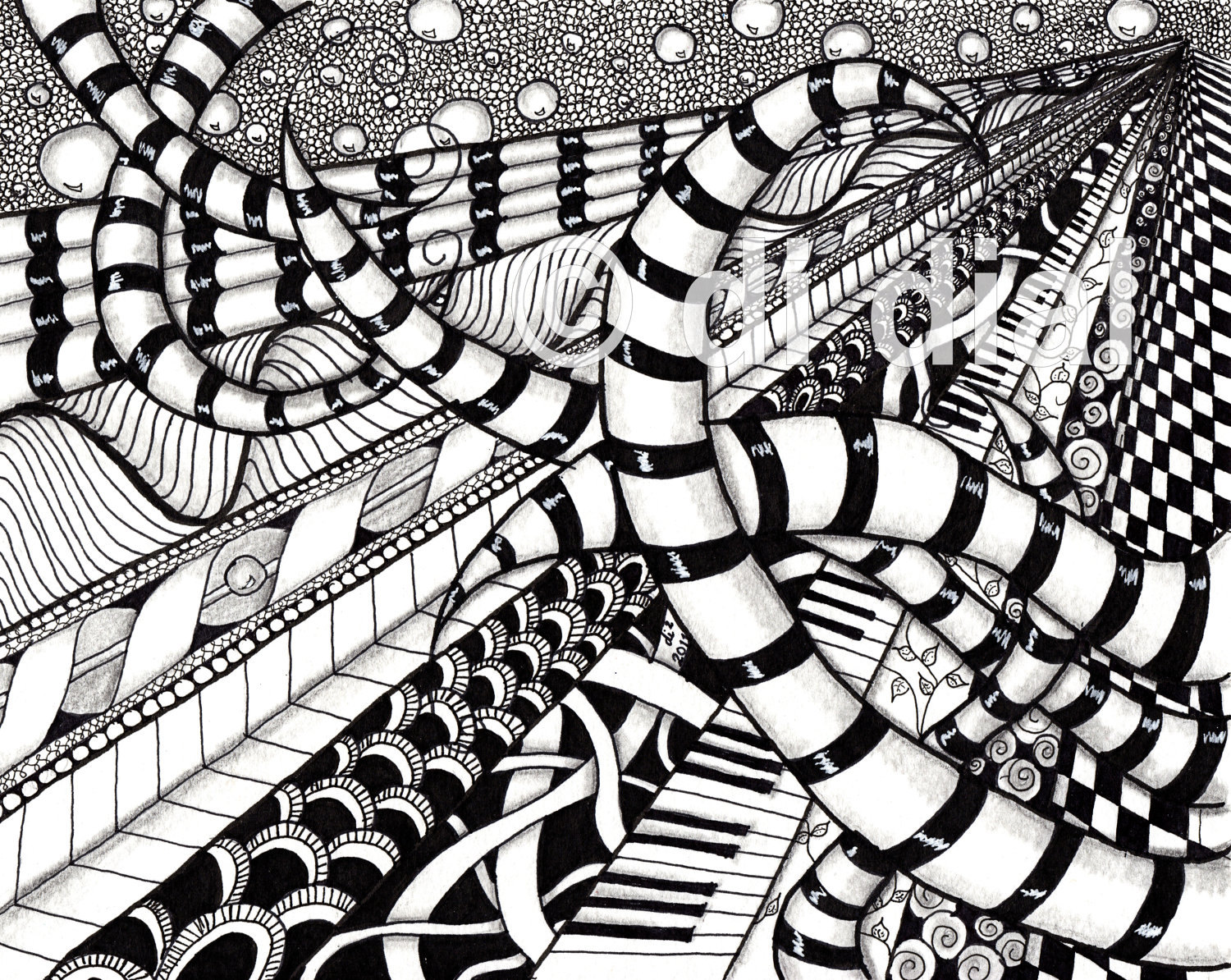 Line Art Zentangle : Service unavailable