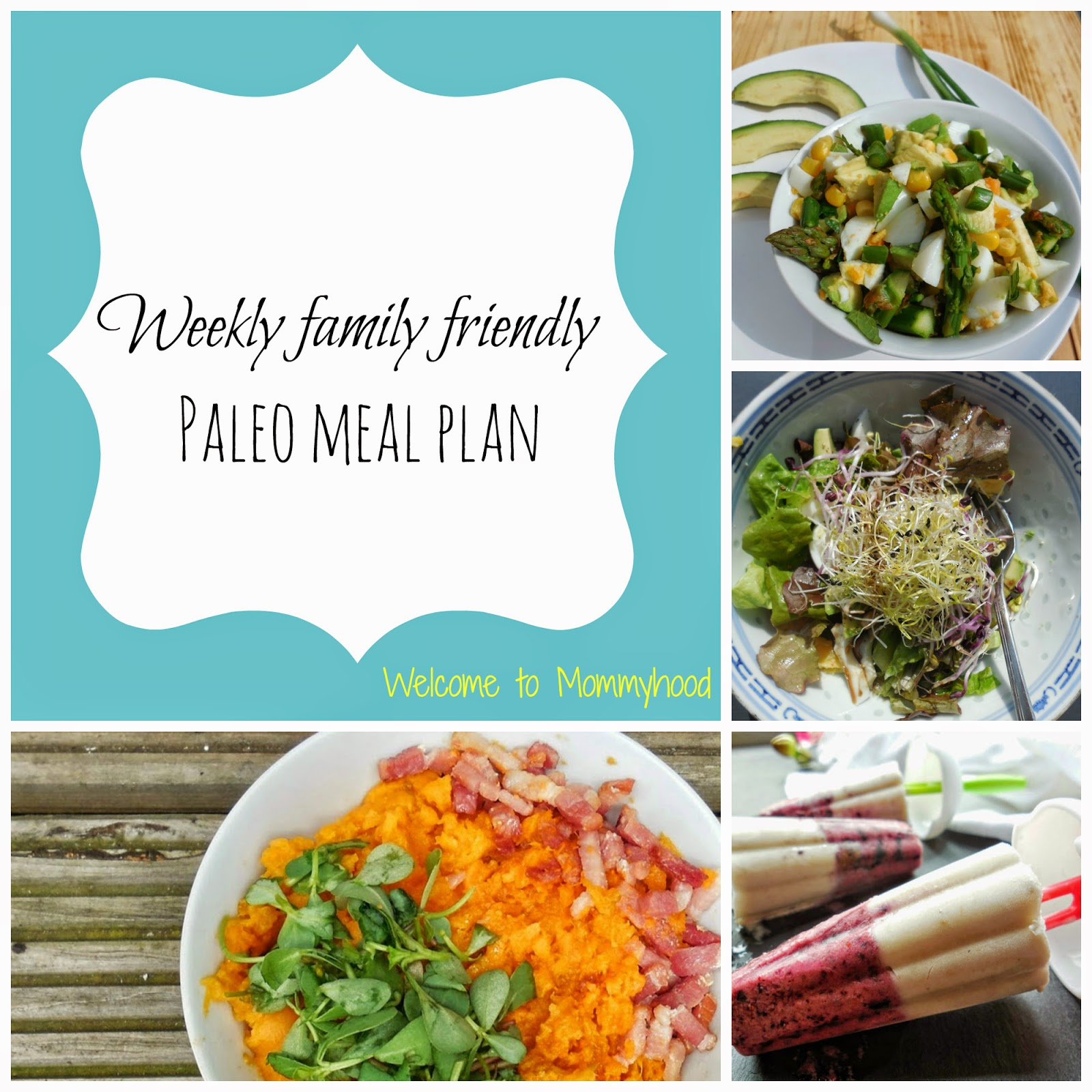 Paleo Meal Plan by Welcome to Mommyhood #paleo