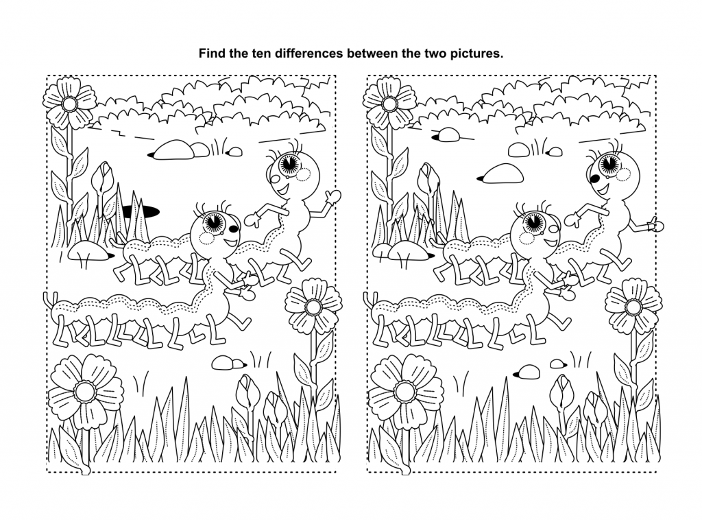 find spot the difference printable