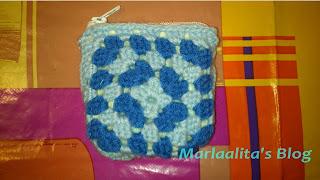 monedero pequeño de grannys, granny square, ganchillo, crochet
