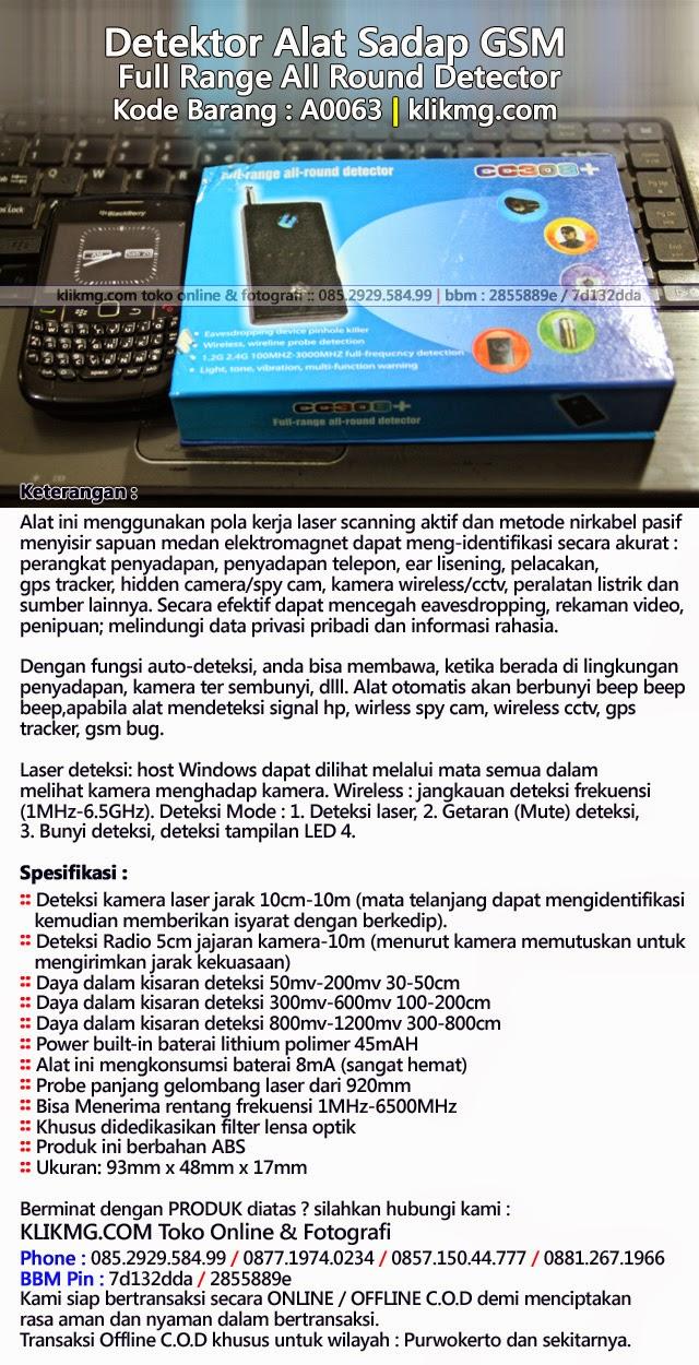 Detektor Alat Sadap GSM - Full Range All Round Detector - Kode Barang : A0063