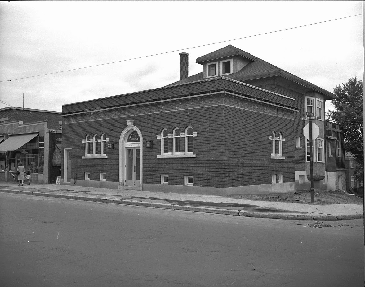 The new Radmore Stewart chapel, on July 18th, 1947. D00658 Sproul Collection - City of Ottawa Archives)