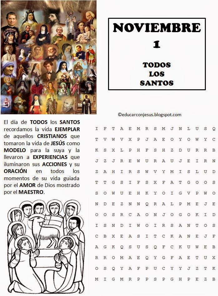 Educar con Jesús: Todos los Santos y Los fieles difuntos (1 y 2 de ...
