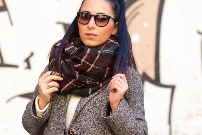 Bufanda de Cuadros reversible de Zara nueva temporada otoño invierno 2014