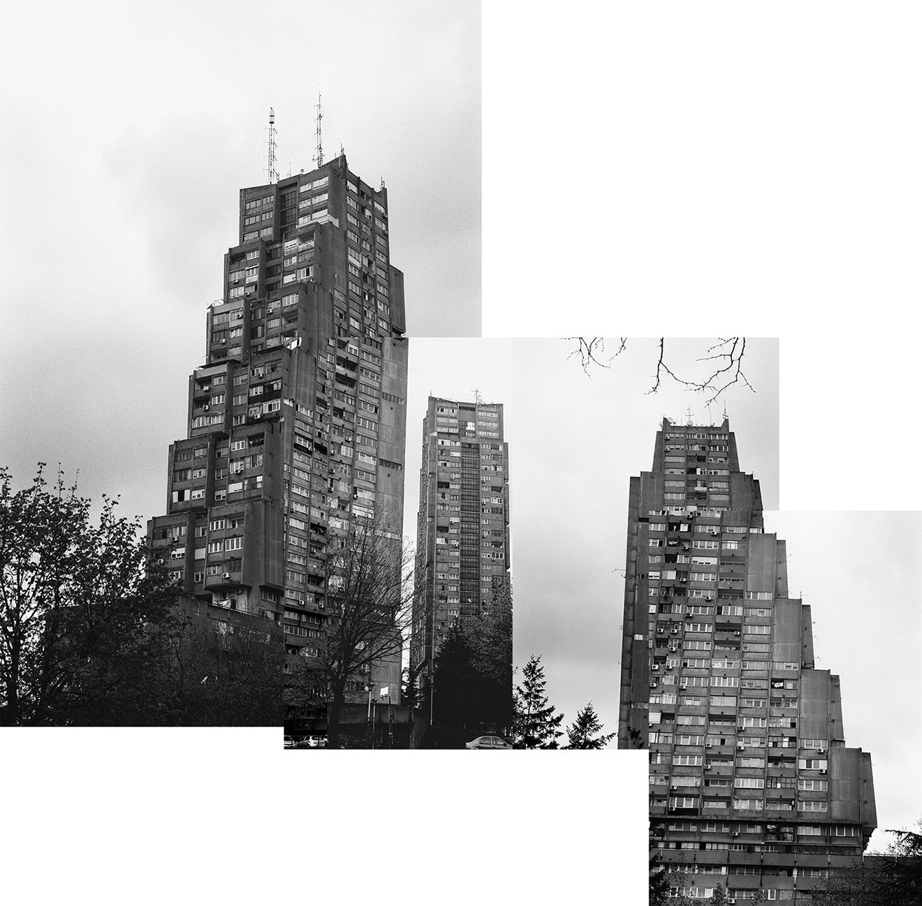architektura Belgradu, Serbia, brutalizm, beton