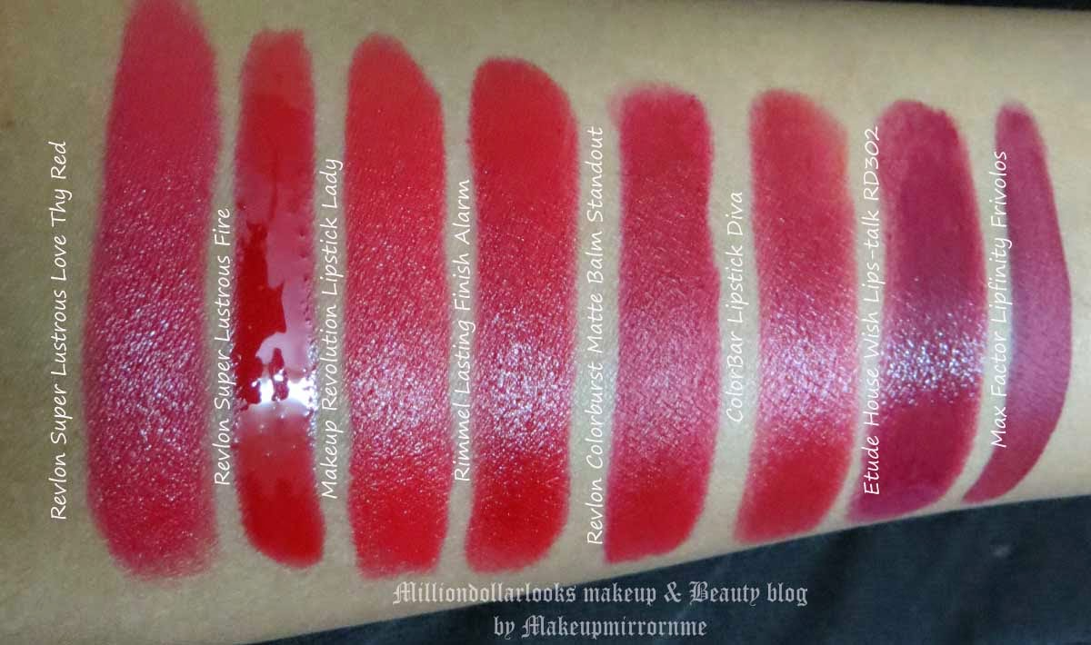 8 Hot Red Lipsticks Recommendation for Winter, Red Lipstick recommendations for Winters, Indian makeup blogger, Indian makeup and beauty bog, Hot red lipsticks and swatches, Lipstick swatches, Red lipsticks, Best drugstore Red lipsticks, Red lipsticks review India, Lipstick, Red lips