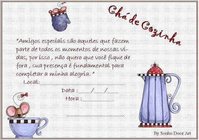 Modelos De Convites Para Ch Cozinha