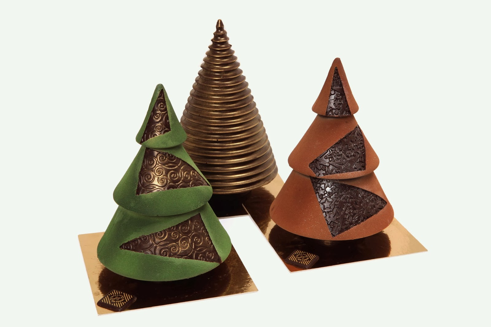sapins en chocolat