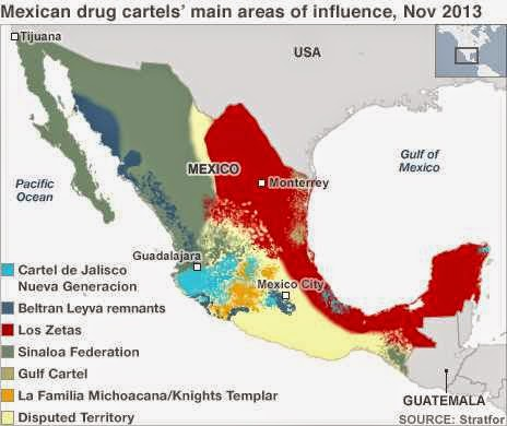 Frightening Drug Cartel Maps Of Mexico Free Printable Maps