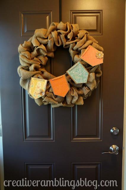 Fall Pennant Wreath