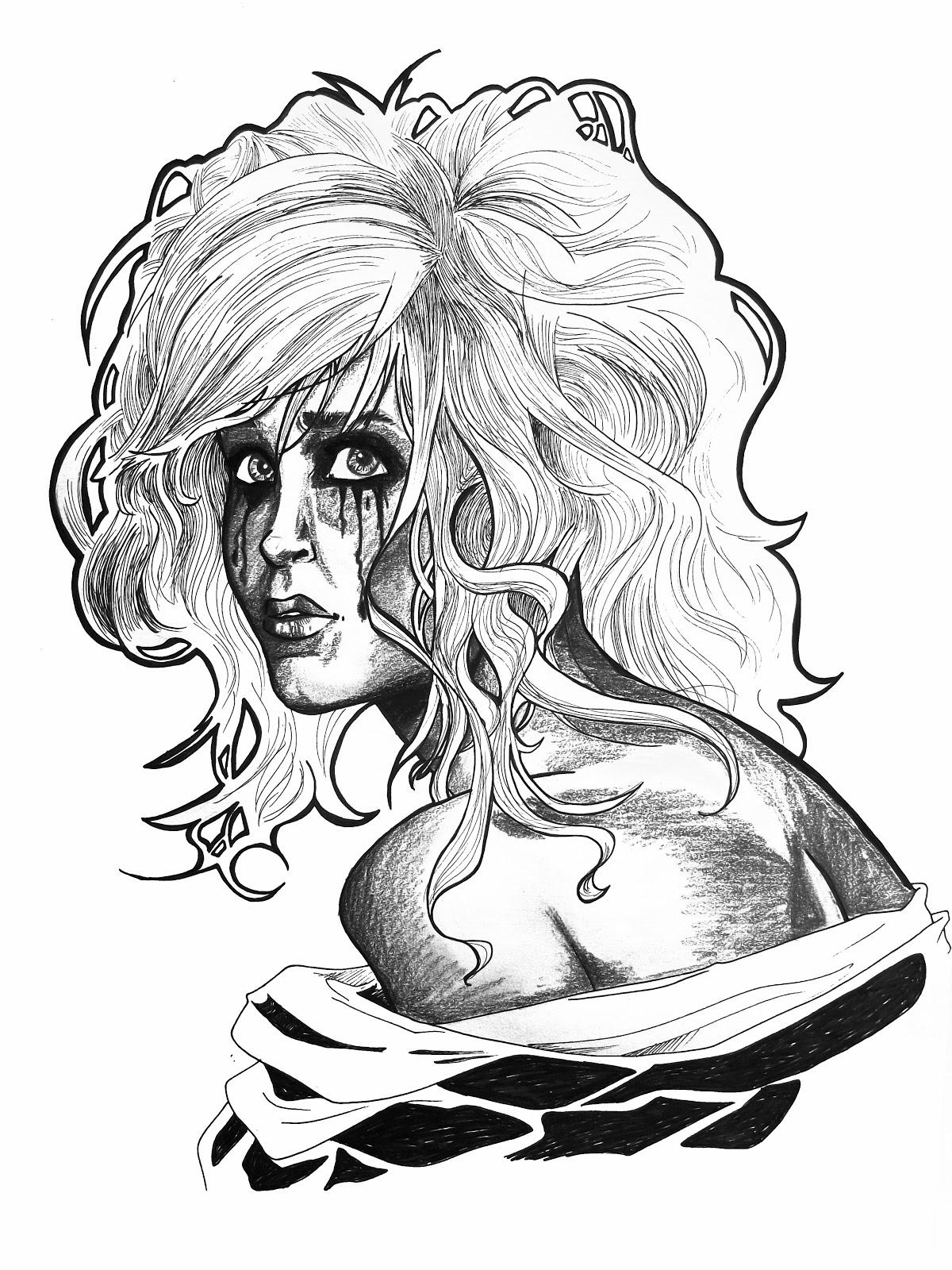 Running Mascara Drawing Kim Cruickshank Illust...