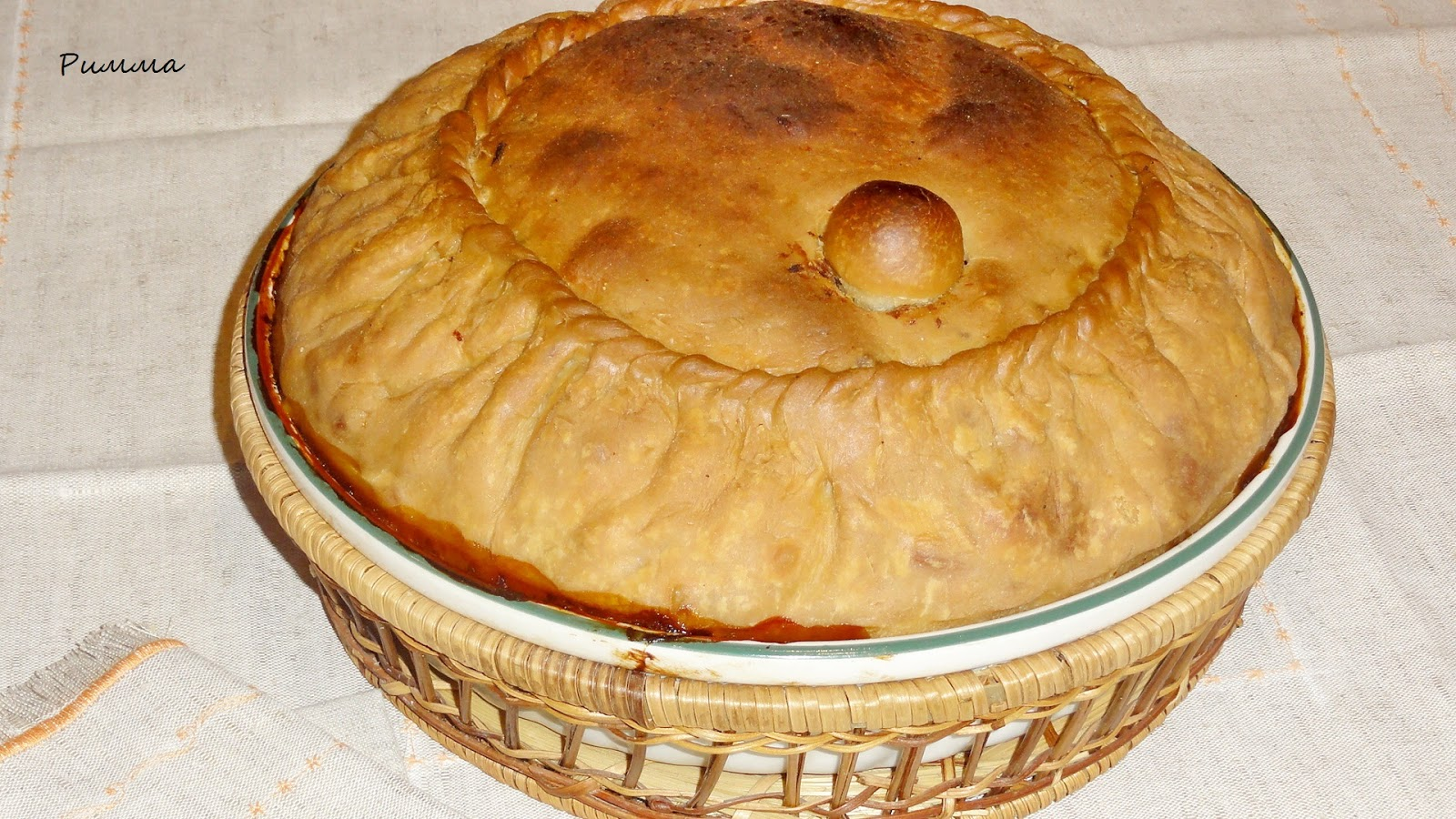 Татарский пирог с рисом и тыквой рецепт