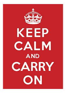 Keep calm and carry on Logo Vector