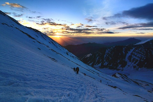 Sunrise from Stok Kangri, Ladakh