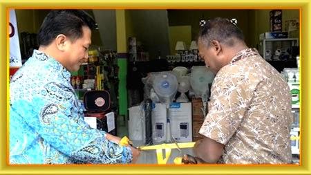 Grand Opening Minimarket waralaba Toserba Elektrik di Medan