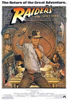 Cartel de la película 'Indiana Jones: En busca del Arca Perdida', protagonizada por Harrison Ford. Dirigida por Steven Spielberg y producida por George Lucas. Making Of. Cine