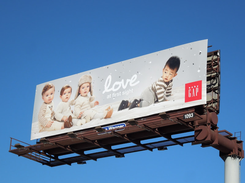Love at first sight Baby Gap billboard