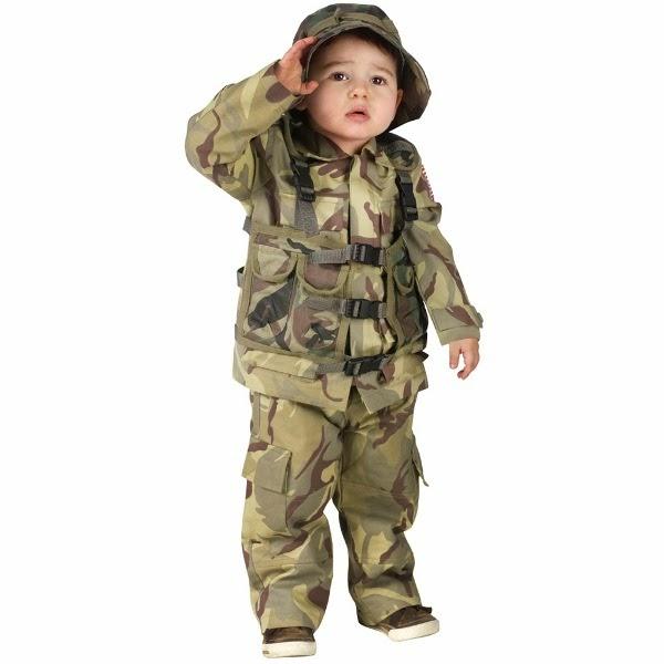 Gratis download foto bayi lucu memakai kostum tentara