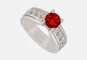 Best Engagement Rings Red Pearls And Diamond For Women Pics