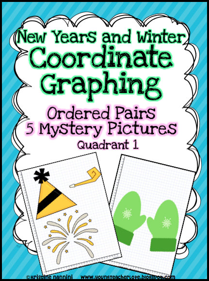 Young teacher love christmas math christmas coordinate graph mystery