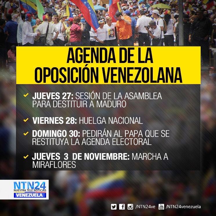 28/30 de outubro e 3 de novembro: Venezuela