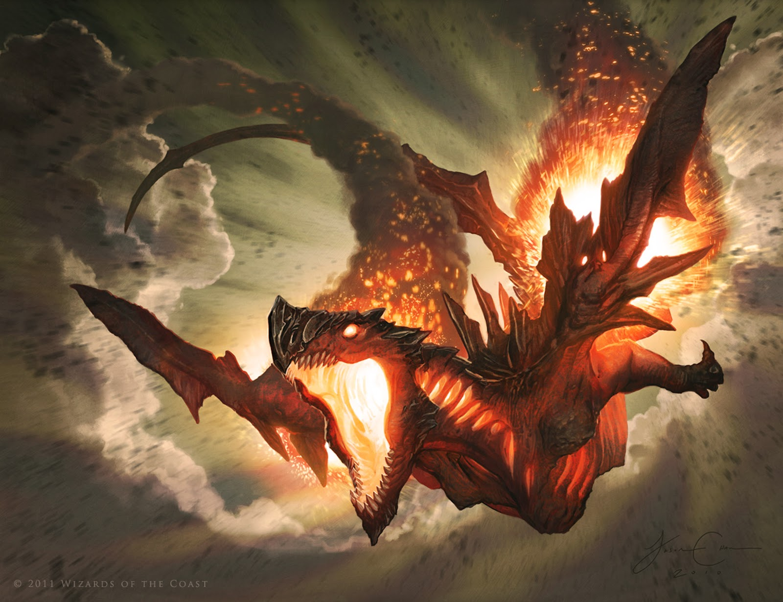 group of fire dragon concept by