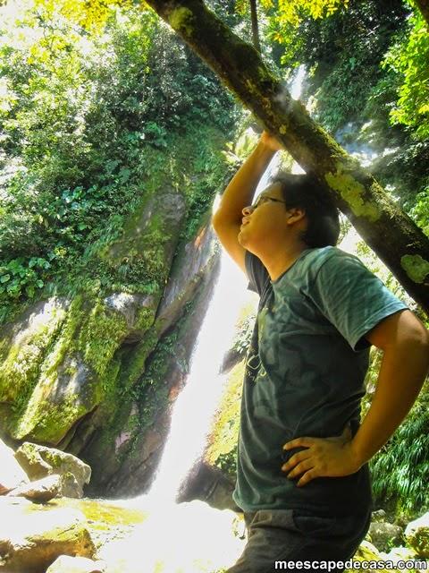 El Caminante en la segunda cascada del río Shilcayo (Cordillera Escalera, Perú)
