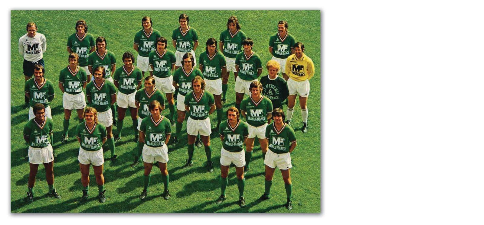 1nil modern retro football shirts saint tienne 1976 - Kartell saint etienne ...