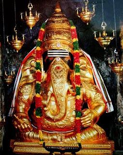 Picture of Lord Vinayagar in Karpaga Vinayakar Temple in Pillayarpatti Tamil Nadu
