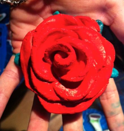 modeler une rose