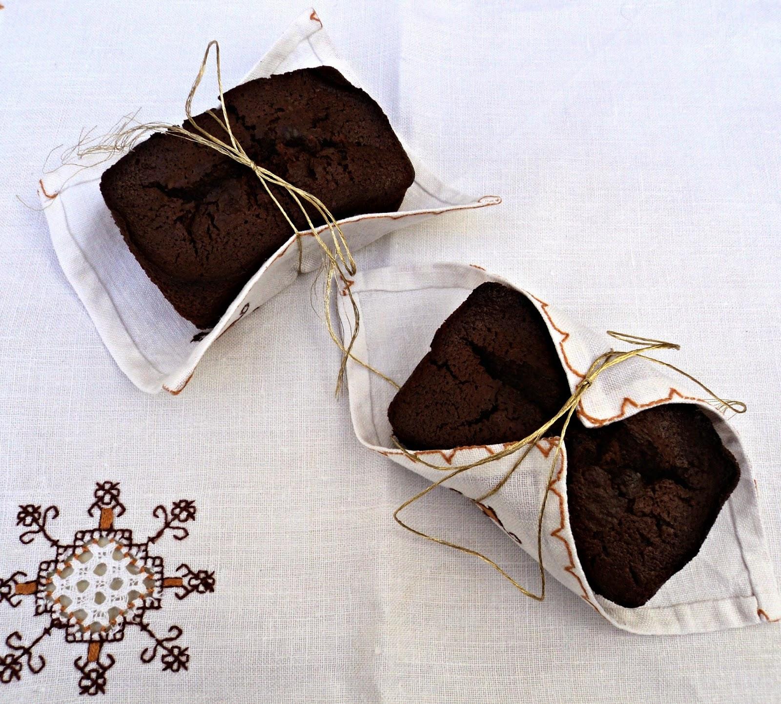 receta casera de financiers chocolate