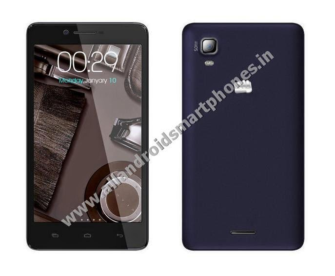 Micromax A102 Canvas Doodle 3 Android Phablet Blazing Blue Color Front Back Side Images Photos Review