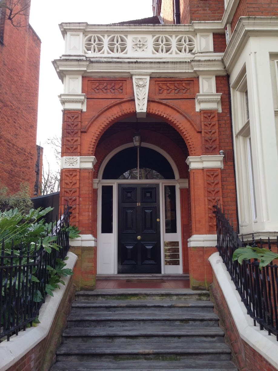 Doorway on Melbury Road, London W14
