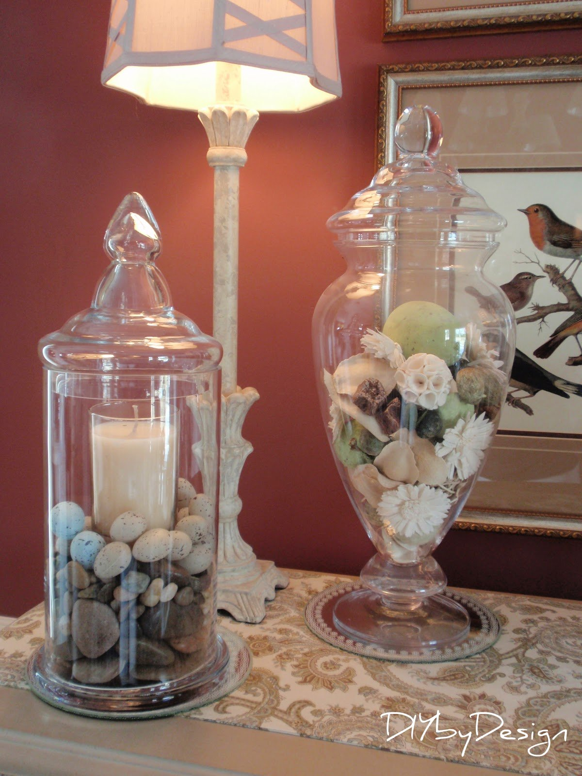 diy by design decorating with cloches and apothecary jars