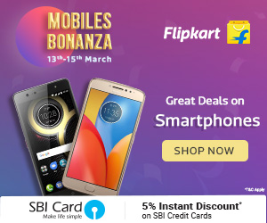 Mobile Bonanza on Flipkart