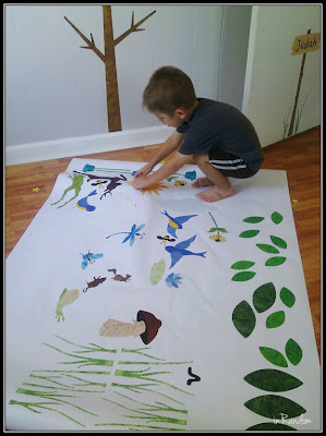 helping with the wall stickers