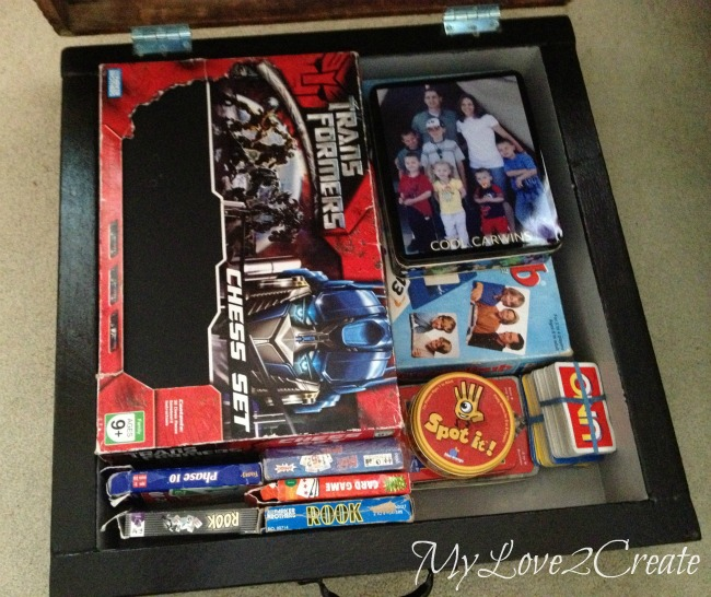 MyLove2Create, Repurposed Table Top into Game Box