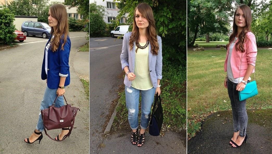 La pi ce avoir 01 le blazer pauline dress blog mode lifestyle et d co besan on - Avec quoi porter une robe bleu marine ...