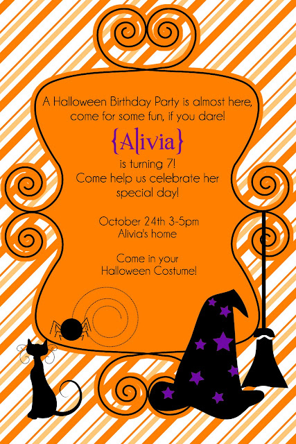 free halloween party invitation or photo template tips from a