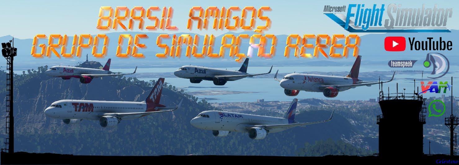 Grupo Brasil Amigos - Simulação Aérea