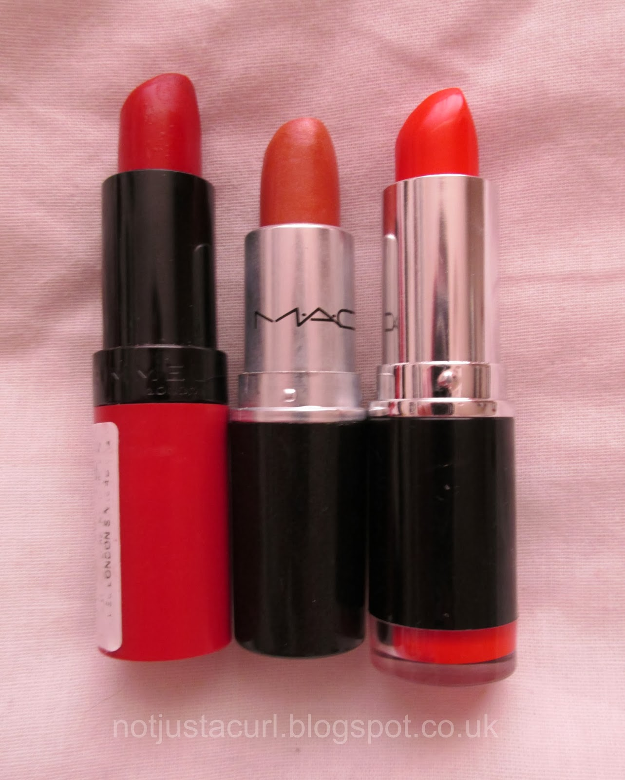 A photo of my lipsticks.
