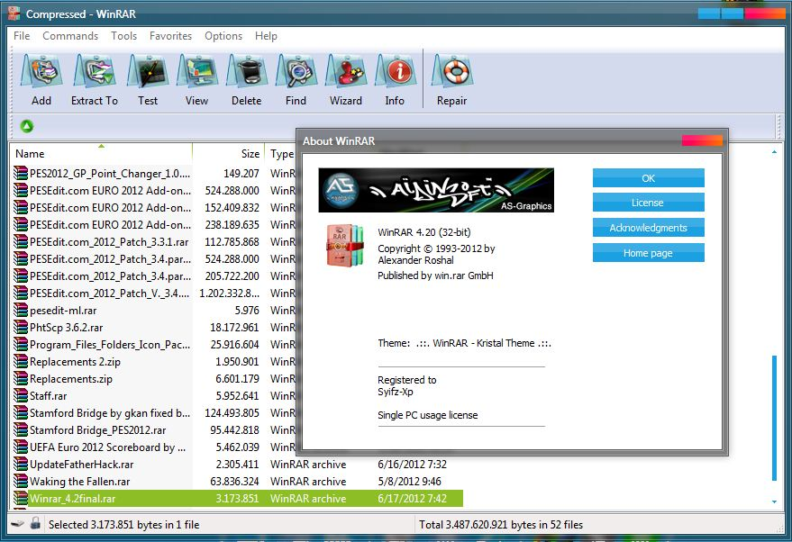 winrar win 7 32 bit full crack