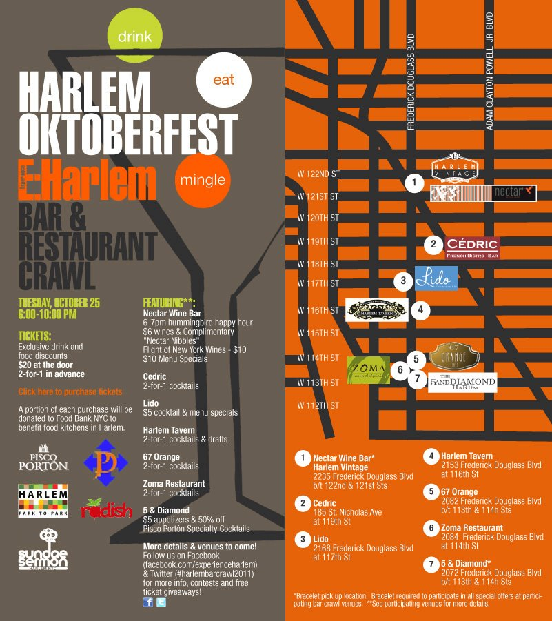 H a r l e m b e s p o k e drink oktoberfest bar for Food bar harlem