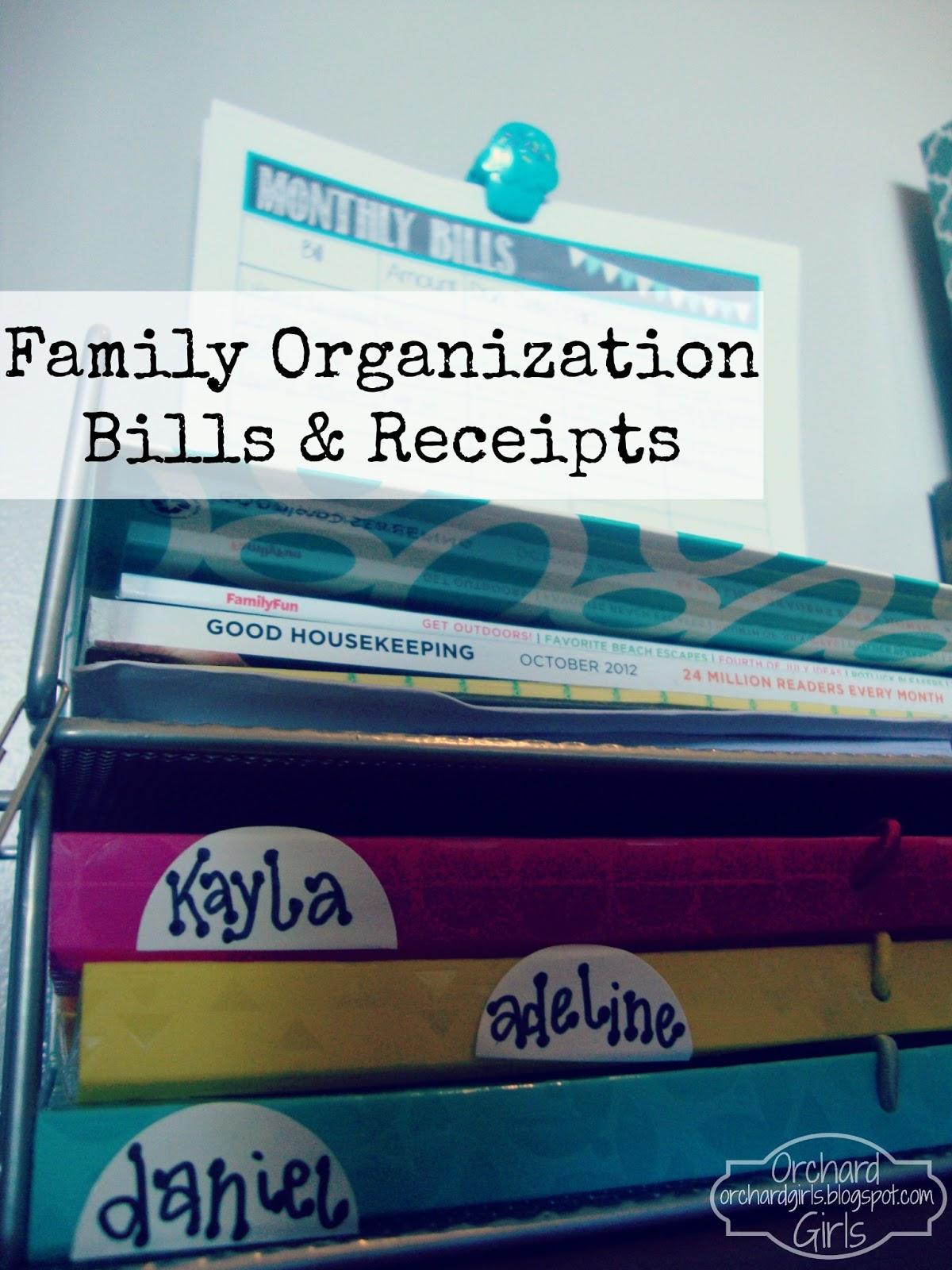 orchard girls monthly bills organization station free printable