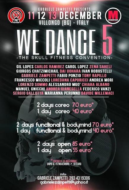 We Dance Convention 5 - 11-12-13 dicembre 2015 a Villongo, Bergamo