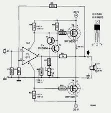 Build 20W MOSFET Power Amplifier Circuit with IFR9520,IFR520