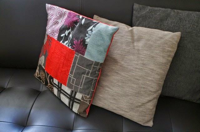 Capa de almofada com estampa patchwork